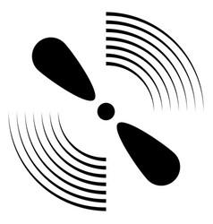 exhaust fan icon ventilator symbol silhouette vector image