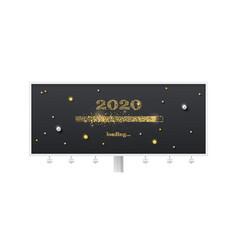 festive billboard with loading bar transition vector image