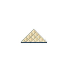 Flat icon louvre museum element vector
