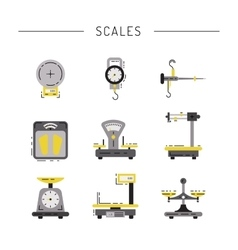 Flat icons of scales vector