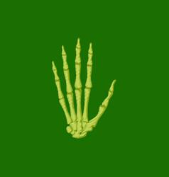 flat shading style icon wrist bone vector image