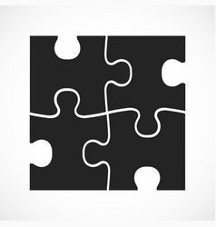 four piece flat puzzle section compare service vector image