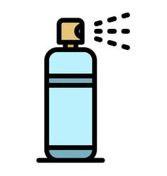 Fresh deodorant spray icon color outline vector