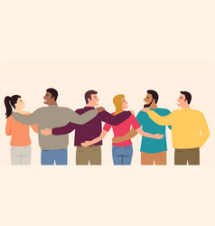Group multi ethnic people for international vector