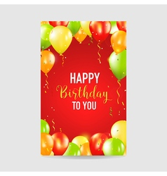 Happy birthday and party balloon invitation card vector