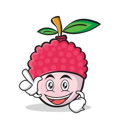 Have an idea lychee cartoon character style vector