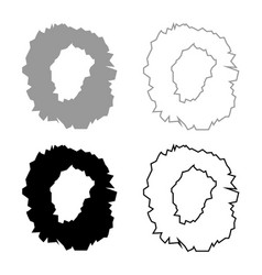 Hole in the surface icon set grey black color vector