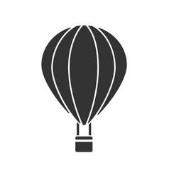 hot air balloon glyph icon vector image