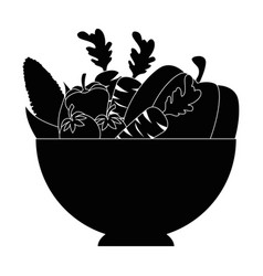 Isolated vegetables bowl vector