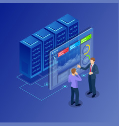 Isometric concept of data network management vector