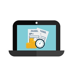 laptop technology vector image