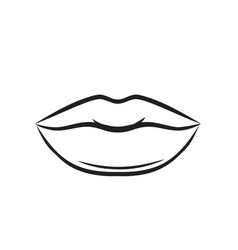 lips or mouth icon vector image