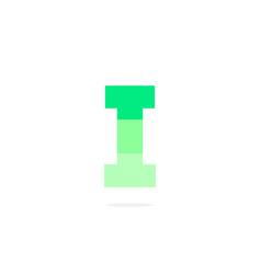 logo letter i green energy battery vector image