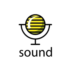 Logo sound vector