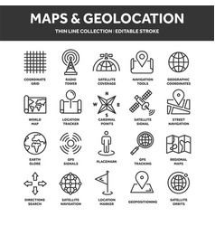 Map and navigation gps coordinates location vector