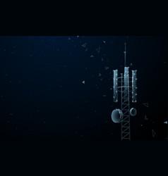 mast station broadcasting cellular vector image