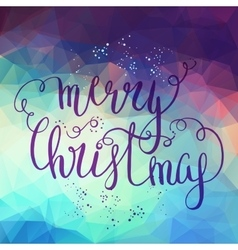Merry christmas lettering postcard vector