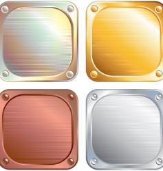 Metallic panels vector