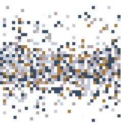multi colored pixelation vector image