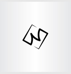 n black logo letter icon symbol vector image