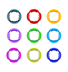 nine colorfull circle set vector image