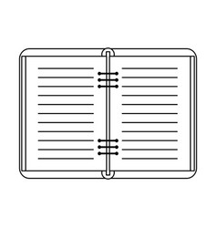Open notebook icon image vector