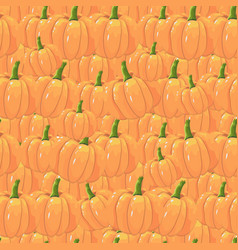orange pumpkins seamless pattern in cartoon style vector image