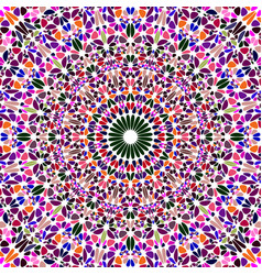 oriental psychedelic dynamic round floral vector image