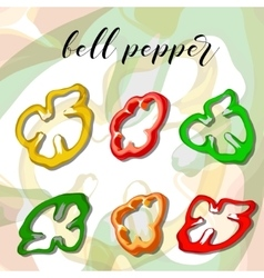 Paprika or bell pepper on a background vector image