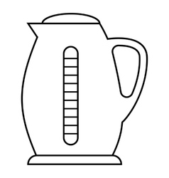 Plastic electric kettle icon outline style vector image