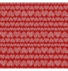 Red heart seamless texture vector image