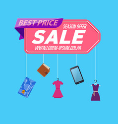 retail sale poster vector image