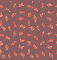 salmon red fish steak or fillet creative vector image