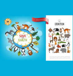 save the earth flat concept vector image
