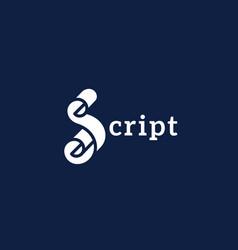 Script logo design vector