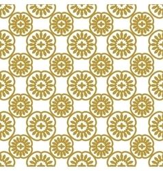 Seamless gold floral pattern vector