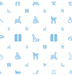 Seat icons pattern seamless white background vector
