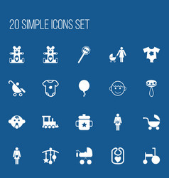 Set of 20 editable baby icons includes symbols vector