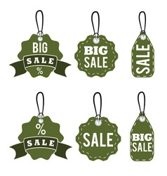set of sale tags design template vector image