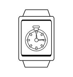 Square watch and stopwatch icon graphic vector
