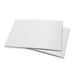 Stack of two empty Magazines or Brochures vector