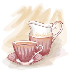 still life vintage cup vector image
