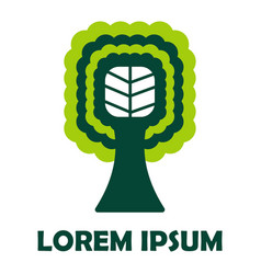 tree green company corporate identity isolated vector image