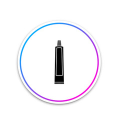 Tube of toothpaste icon on white background vector