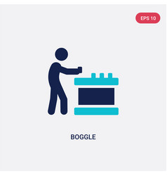 Two color boggle icon from activity and hobbies vector