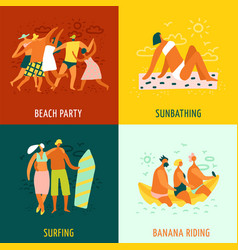 vacation 2x2 design concept vector image