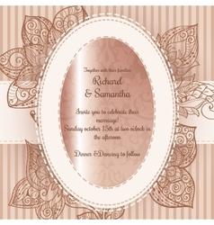 Vintage wedding card with floral design vector image