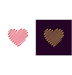 wavy heart icon of heart vector image