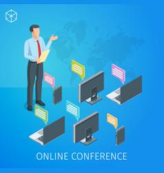 webinar online banner 2 vector image