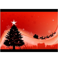 christmas greeting card design background vector image